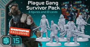 Zombicide : Invaders : Plague Gang Survivors Pack (max 12 spec. ord.)