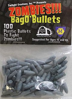 Zombies Bag of 100 plastic