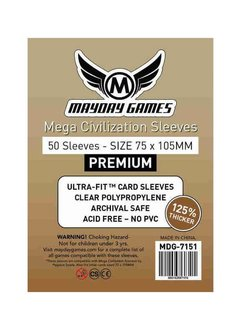 Sleeves Mega Civilisation 75mm x 105mm Deluxe 50ct