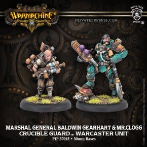 Crucible Guard - Marshal General Baldwin & Mt. Clogg Warcaster