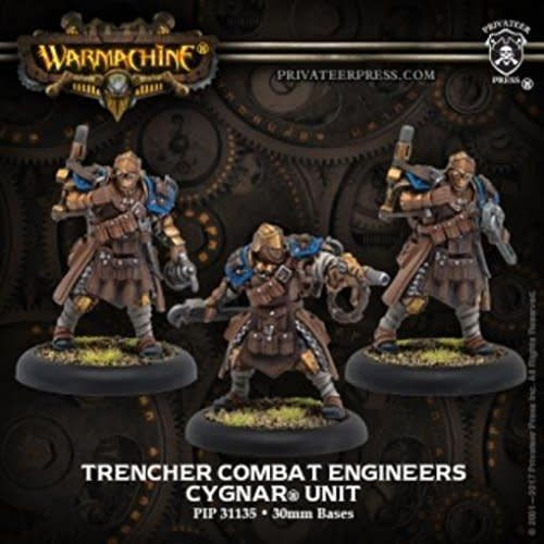 Cygnar Trencher Combat Engineers