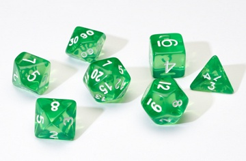 SD Translucent Green Resin 7-Die Set