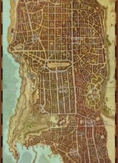 D&D Waterdeep City Map Game Mat