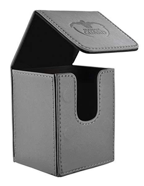 Deck Box: Flip Deck Case Leather 100 Grey