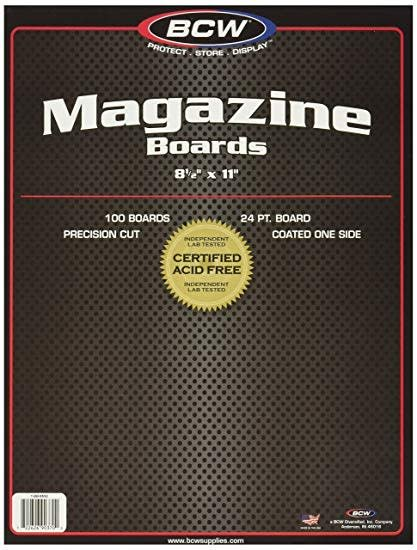 Back Boards BCW Magazine