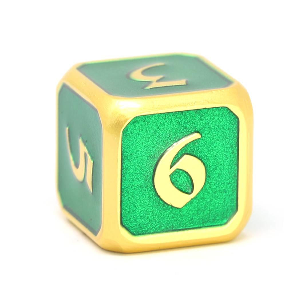 Metal D6 - Satin Gold Emerald