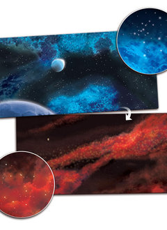 Planet / Crimson Gas Cloud 3' x 3' Playmat