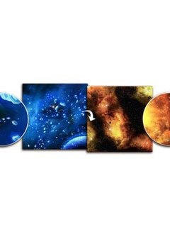 Planet / Fiery Nebula Cloud 3' x 3' Playmat