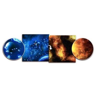 Planet / Fiery Nebula Cloud 3' x 3' Playmat