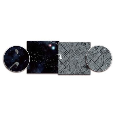 Asteroid Field / Space Station 3' x 3' Playmat