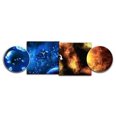 Crimson Gas Giant / Frozen Star System 6' x 3' Playmat
