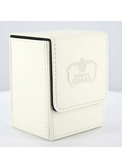 Flip Deck Case Leather blanc