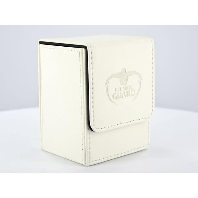 Flip Deck Case Leather blanc