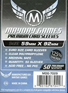 Mayday Premium Euro Sleeves 59mm x 92mm (50ct)