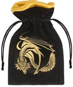 Dice Bag - Dragon Black Golden Velour