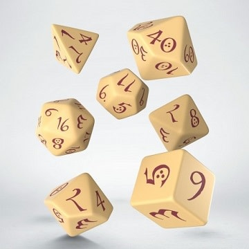 Classic RPG Dice Set - Beige/Burgundy