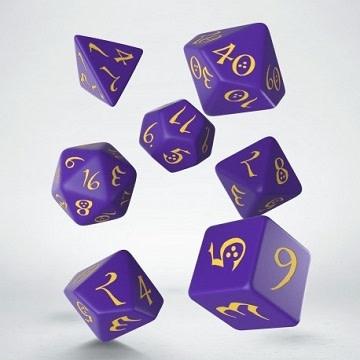 Classic RPG Dice Set - Purple/Yellow