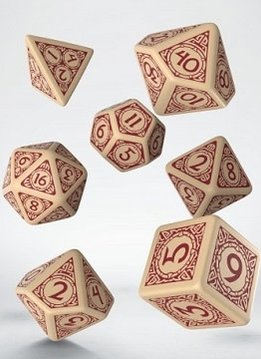 Viking Dice Set - Beige/Burgundy