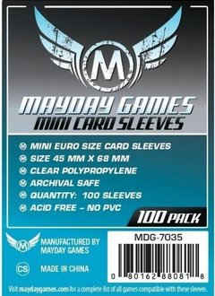 Protecteurs de cartes mini-euro 45mmx68mm - Paquet de 100