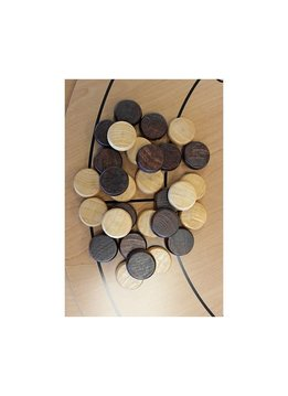 30 PCS WOODEN CROKINOLE CHECKERS BACKGAMMON (6)