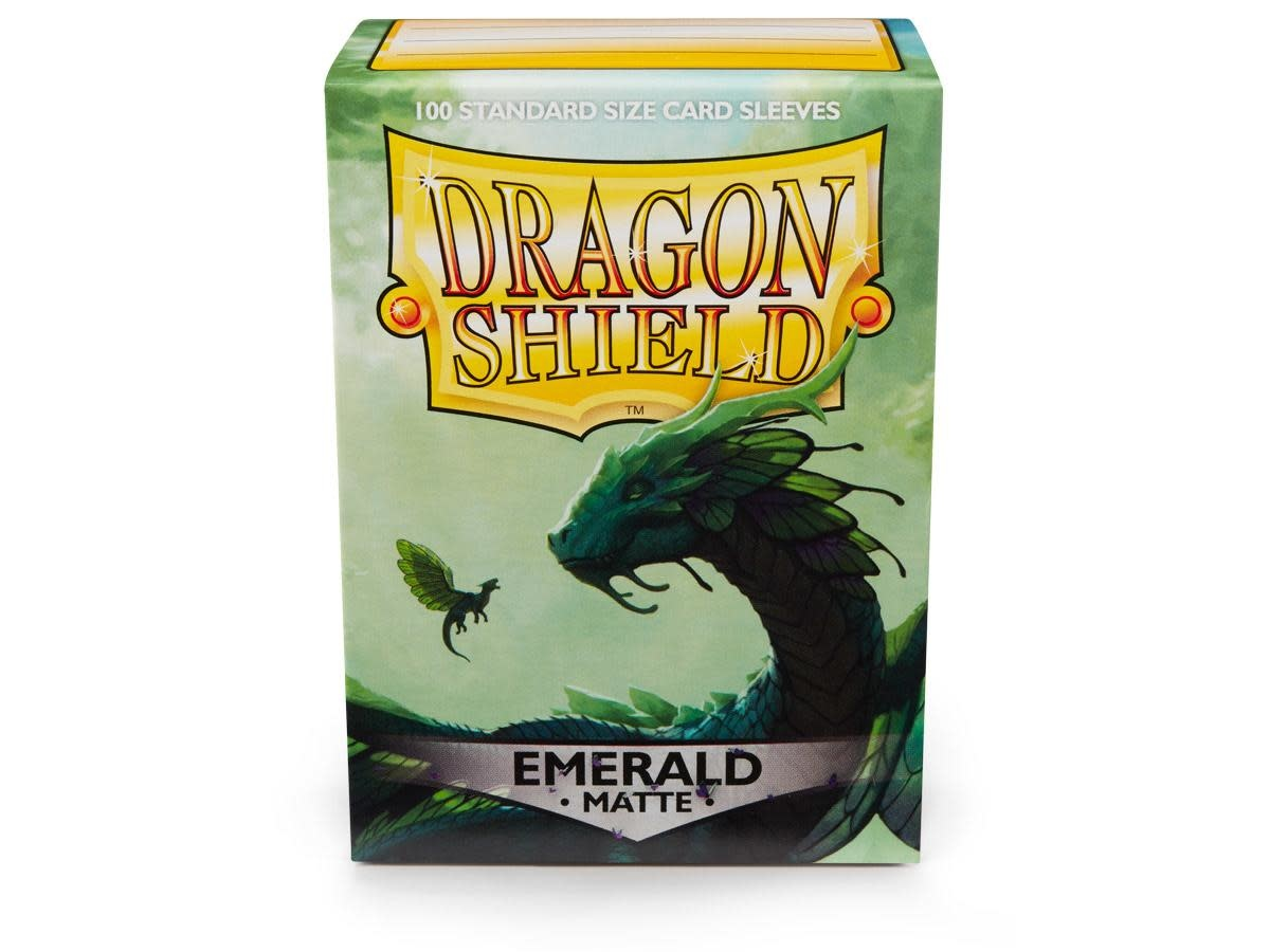 Dragon Shield Matte Emerald Sleeves