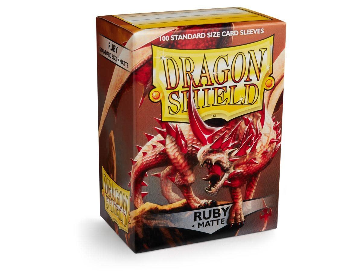 Dragon Shield Matte Ruby Sleeves