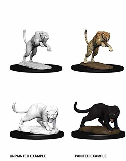 Unpainted Miniatures - Panther & Leopard