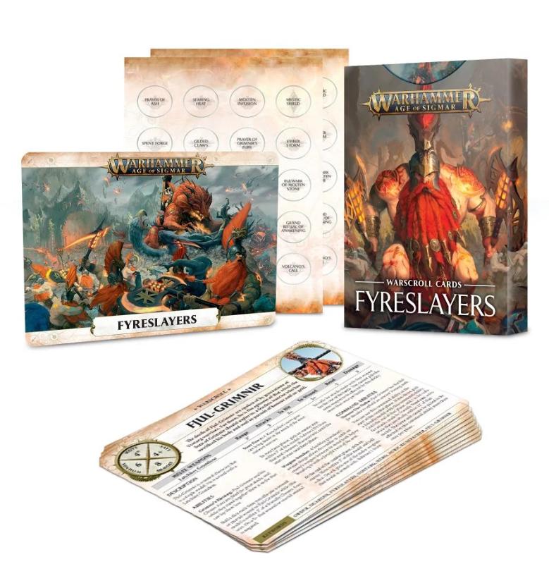 Warscroll Cards: Fyreslayers EN