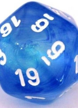 Borealis D20 34MM Sky Blue with White