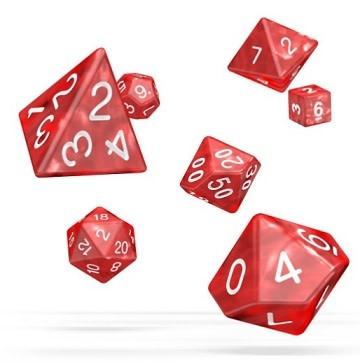 OD RPG Marble 7 Dice Set - Red