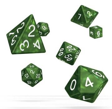 OD RPG Marble 7 Dice Set - Green