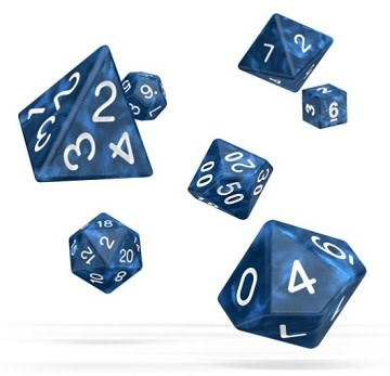 OD RPG Marble 7 Dice Set - Blue