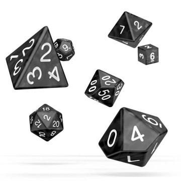 OD RPG Marble 7 Dice Set - Black