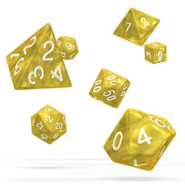 OD RPG Marble 7 Dice Set - Yellow