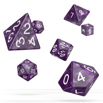 OD RPG Marble 7 Dice Set - Purple