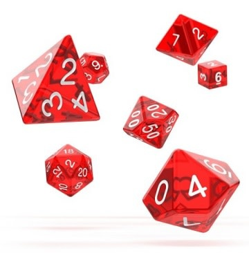 OD RPG Translucent 7 Dice Set - Red