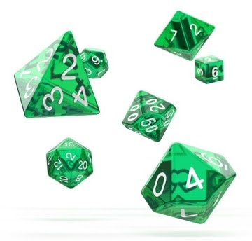 OD RPG Translucent 7 Dice Set - Green