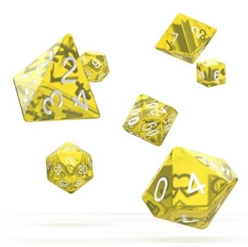 OD RPG Translucent 7 Dice Set - Yellow
