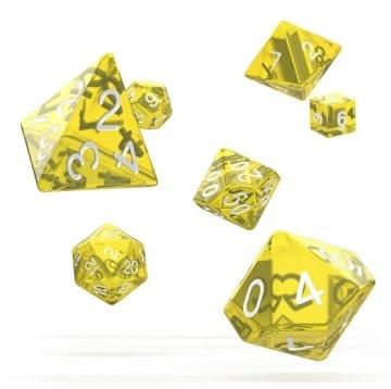 OD RPG Translucent 7 Dice Set - Yellow