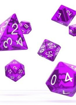 OD RPG Translucent 7 Dice Set - Purple