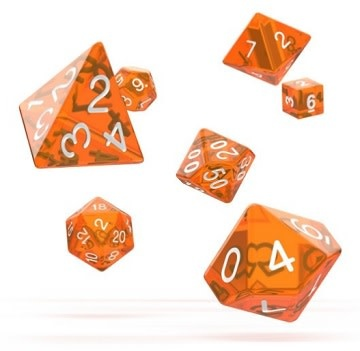 OD RPG Translucent 7 Dice Set - Orange