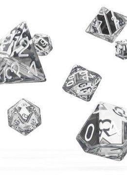 OD RPG Translucent 7 Dice Set - Clear