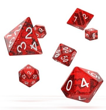 OD RPG Speckled 7 Dice Set - Red