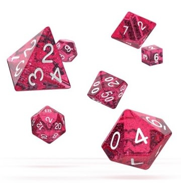 OD RPG Speckled 7 Dice Set - Pink
