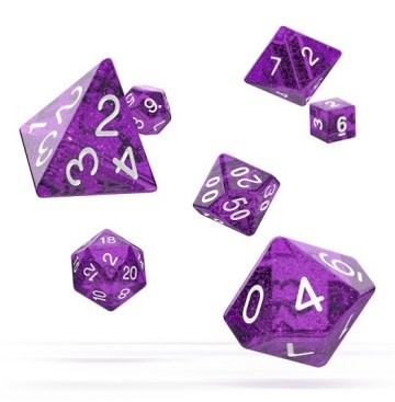 OD RPG Speckled 7 Dice Set - Purple