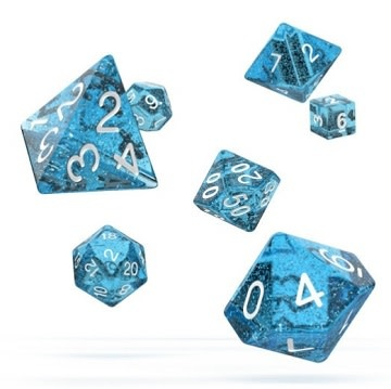 OD RPG Speckled 7 Dice Set - Light Blue