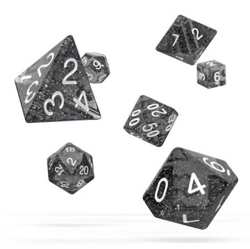 OD RPG Speckled 7 Dice Set - Black