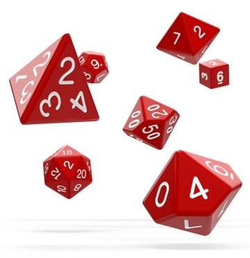 OD RPG Solid 7 Dice Set - Red
