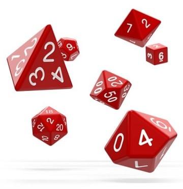 OD RPG Solid 7 Dice Set - Red