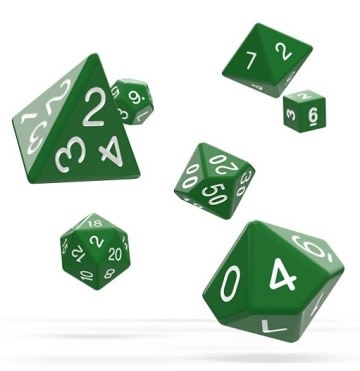 OD RPG Solid 7 Dice Set - Green